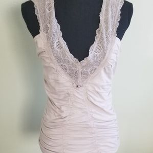 Free people lace v neck tank top